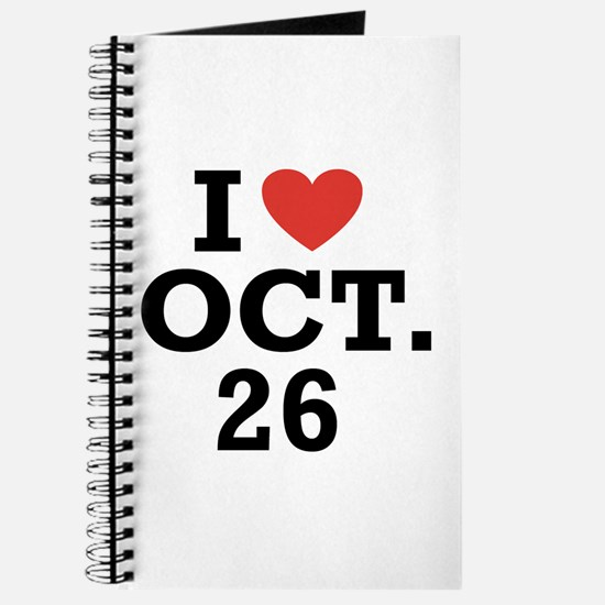 I Heart October 26 Journal
