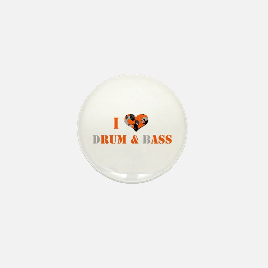 I Love dRum & bAss Mini Button