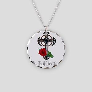 Transparent background Necklace Circle Charm