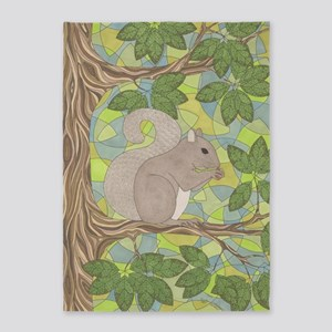Grey Squirrel 5'x7'Area Rug