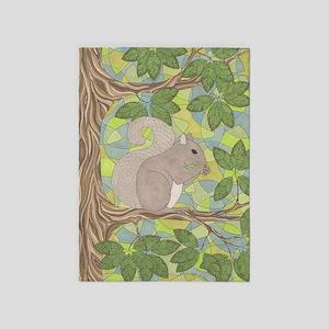 Grey Squirrel 5'x7'Area Rug