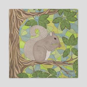 Grey Squirrel Queen Duvet