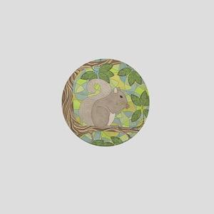 Grey Squirrel Mini Button