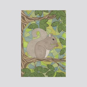 Grey Squirrel Rectangle Magnet