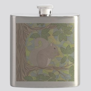 Grey Squirrel Flask