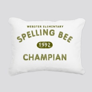 SpellingBee_brown Rectangular Canvas Pillow