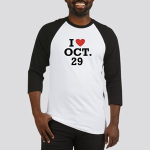 I Heart October 29 Baseball Jersey