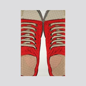 Red Sneakers Rectangle Magnet