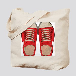Red Sneakers Tote Bag