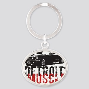 detroitmuscle Oval Keychain