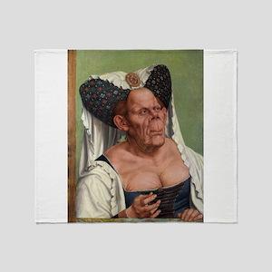 The Ugly Duchess - Quinten Massys - c 1520 Throw B