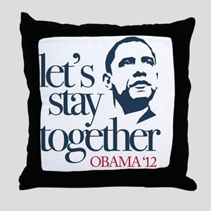 lets-staytogether12-10x10 Throw Pillow