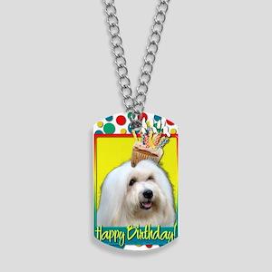 BirthdayCupcakeCotondeTulear Dog Tags