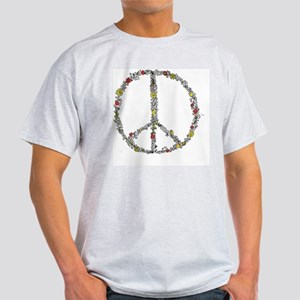 peace w flowers in color Light T-Shirt