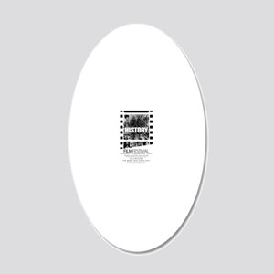 BLACKHISTORY4x6 20x12 Oval Wall Decal