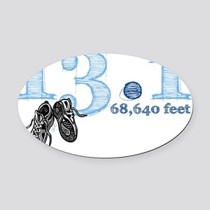 13.1b Oval Car Magnet