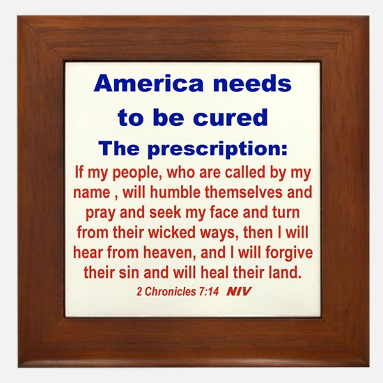 AMERICA NEEDS TO BE CURED... Framed Tile