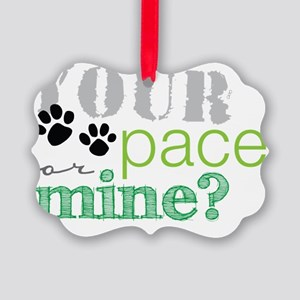 your pace dog Picture Ornament
