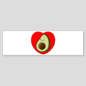 Cute Avocado In Red Heart Bumper Sticker