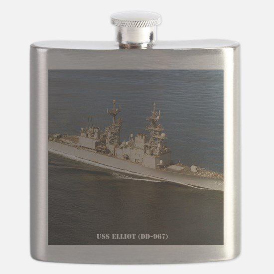 elliot framed panel print Flask