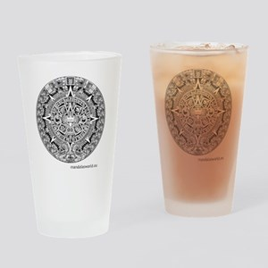 Mayan Calendar Drinking Glass