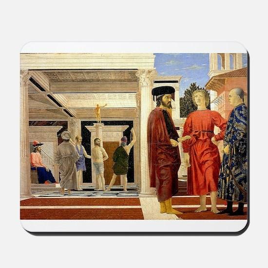 The Flaggelation - Piero della Francesca Mousepad