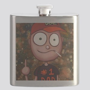 Number One Dad Flask