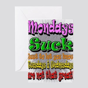 Mondays suck greeting cards cafepress monday sucks a greeting card m4hsunfo