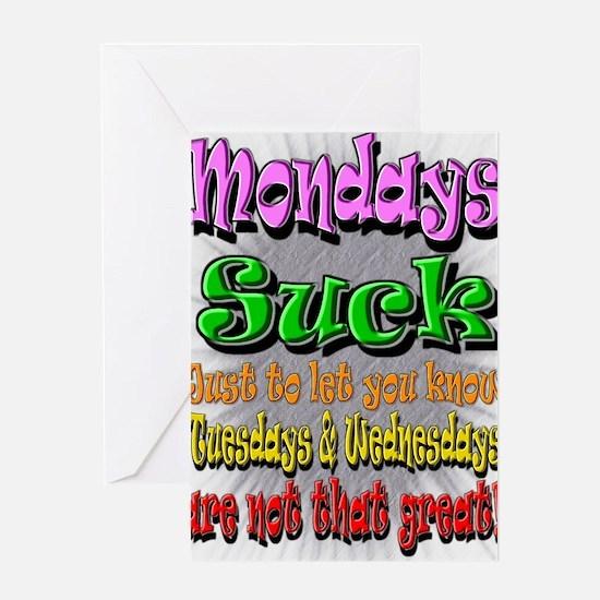 Monday Sucks a Greeting Card