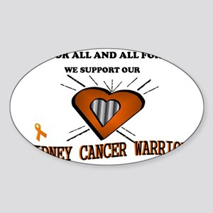 kidney cancer general  Sticker (Oval)