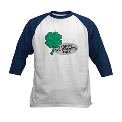 Happy St. Patty's Day Kids Baseball Jersey