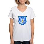 2 Souls 1 Heart Women's V-Neck T-Shirt