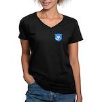2 Souls 1 Heart Women's V-Neck Dark T-Shirt
