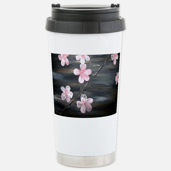 cherry blossom print Stainless Steel Travel Mug