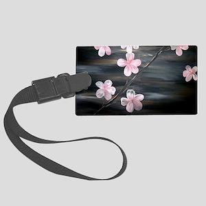 cherry blossom print Large Luggage Tag