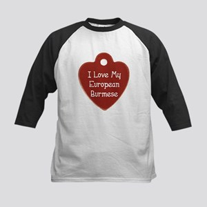 Love Burmese Kids Baseball Jersey