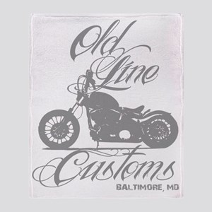 old line tattoo Throw Blanket