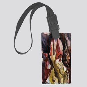 Man in the Tower Large Luggage Tag