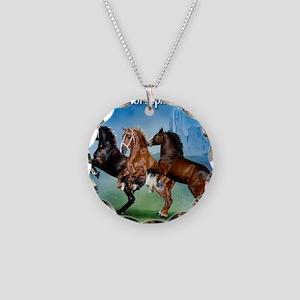 Horsephotos Necklace Circle Charm
