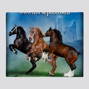 Horsephotos Throw Blanket