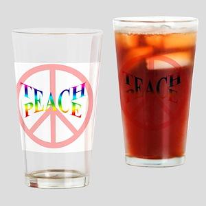 teachpeacemousepad Drinking Glass