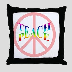 teachpeacemousepad Throw Pillow