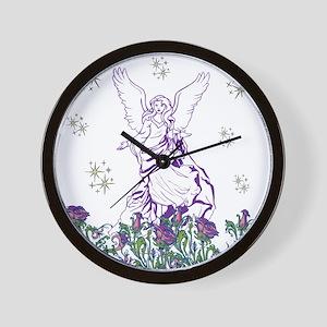 Lilac Angel Wall Clock