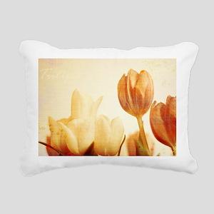 tulip_laptop_skin Rectangular Canvas Pillow