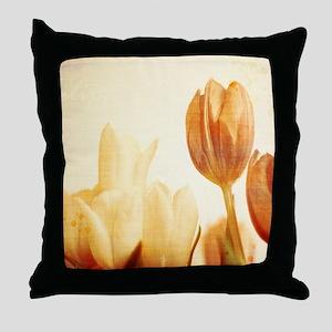 tulipa print Throw Pillow