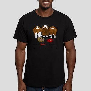 StBernardButtsNew Men's Fitted T-Shirt (dark)