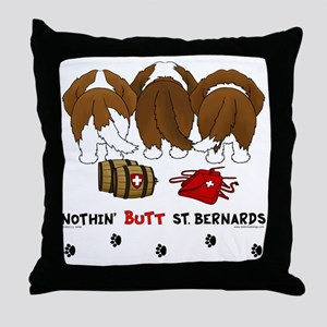 StBernardButtsNew Throw Pillow