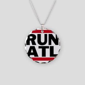 RUN ATL_light Necklace Circle Charm
