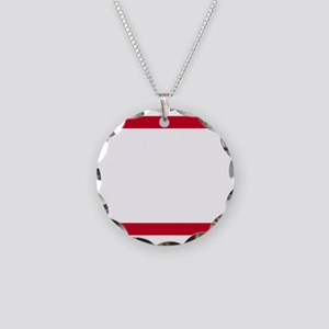 RUN CHI_dark Necklace Circle Charm