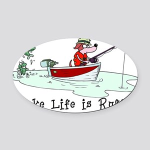 Fishing01 Oval Car Magnet